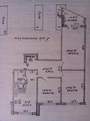 Продам 3-комнатную квартиру в днепровском районе