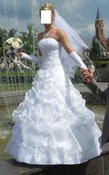 Свадебное платье,  накидка,  перчатки